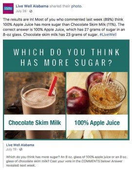 facebook post about sugar