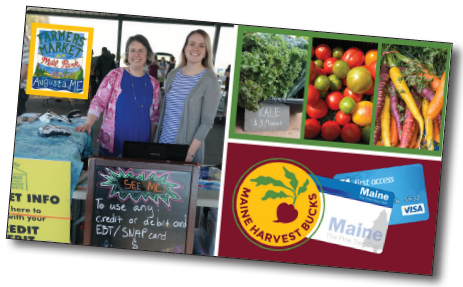 collage of images from the Maine Harvest Bucks program.