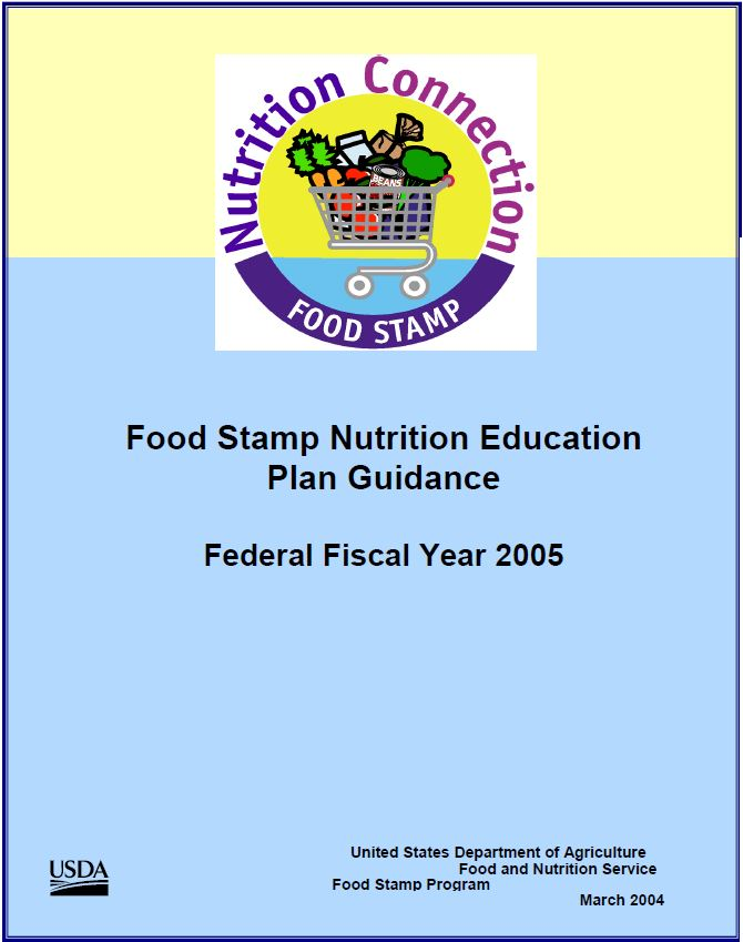 Fy 2005 Food Stamp Nutrition Education Plan Guidance Snap Ed
