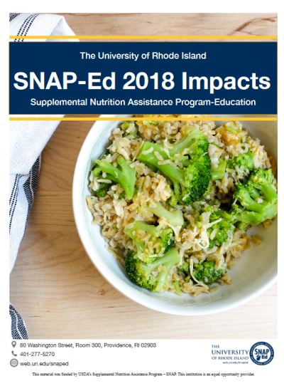 SNAP-Ed 2018 Impacts the University of Rhode Island cover page