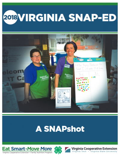 2018 Virginia SNAP-Ed a SNAPshot cover page