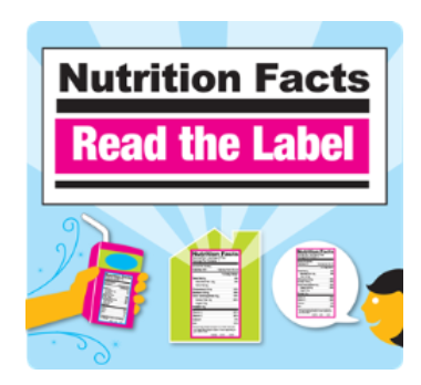 Nutrition Facts Read the Label with an image of nutrition facts labels
