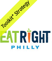 Eat Right Philly Logo with Toolkit Strategy banner