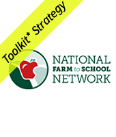 National Farm to School network logo with Toolkit Stragegy banner
