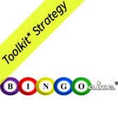 Bingocize logo with Toolkit* Strategy banner