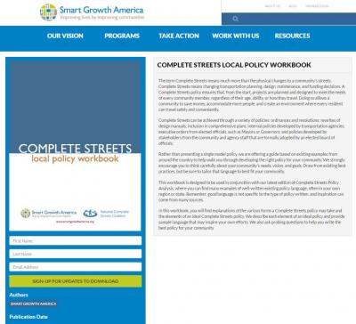 screenshot of web site