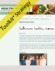 baltimore healthy stores screenshot of website