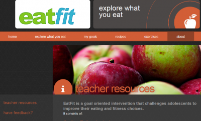 screen shot of website with apples and teacher resources