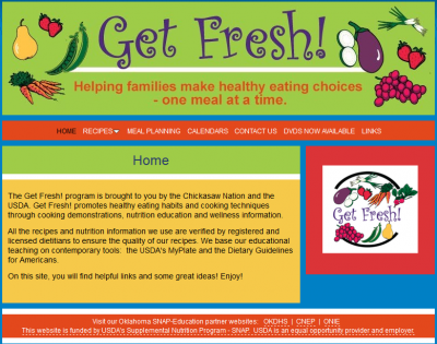 Get Fresh! screenshot of web page