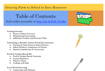 Iowa Farm to School Toolkit