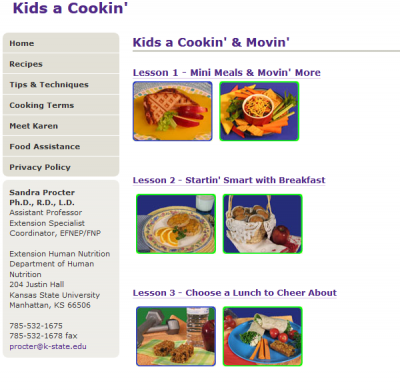thumbnail of Kids a Cookin' & Movin'