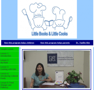 screenshot of Little Books and Little Cooks website