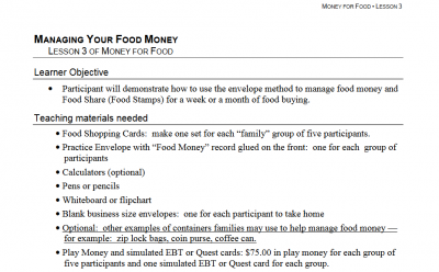 managing your food money