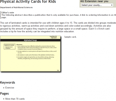 thumbnail of Physical Activity Cards