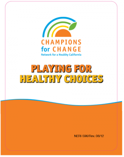 thumbnail of Playing for Healthy Choices Cards