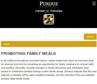 Promoting Family Meals