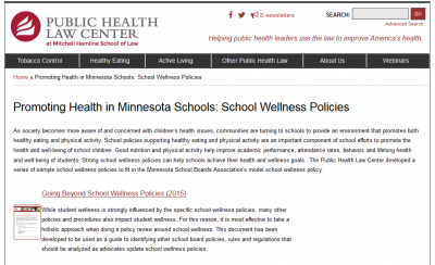 Promoting Health in Minnesota Schools