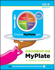 myplate graphic on a plate