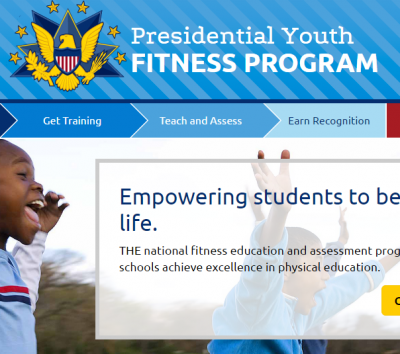 screen shot of Web site presidential youth fitness program