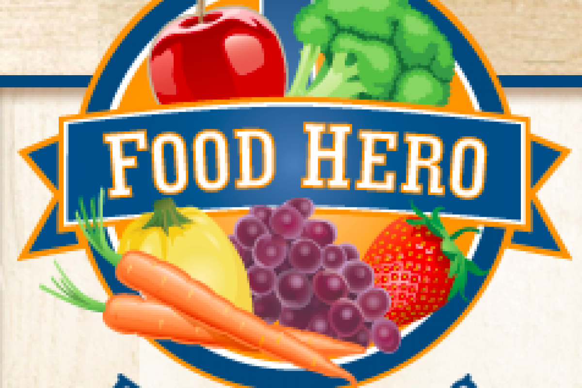 Food Hero Logo with a fruits and vegetables
