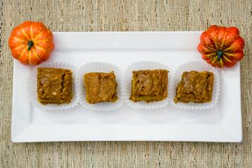 pumpkin squares on a plate