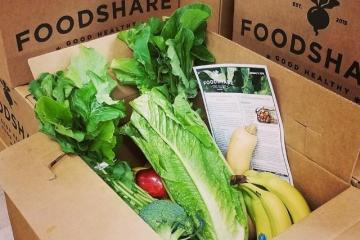 FoodShare box filled with fresh produce