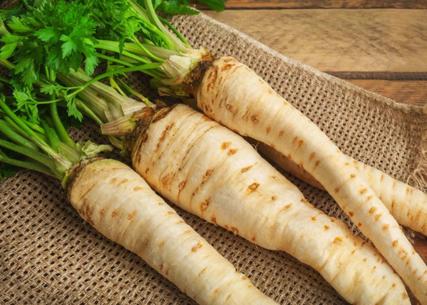 parsnips with green tops