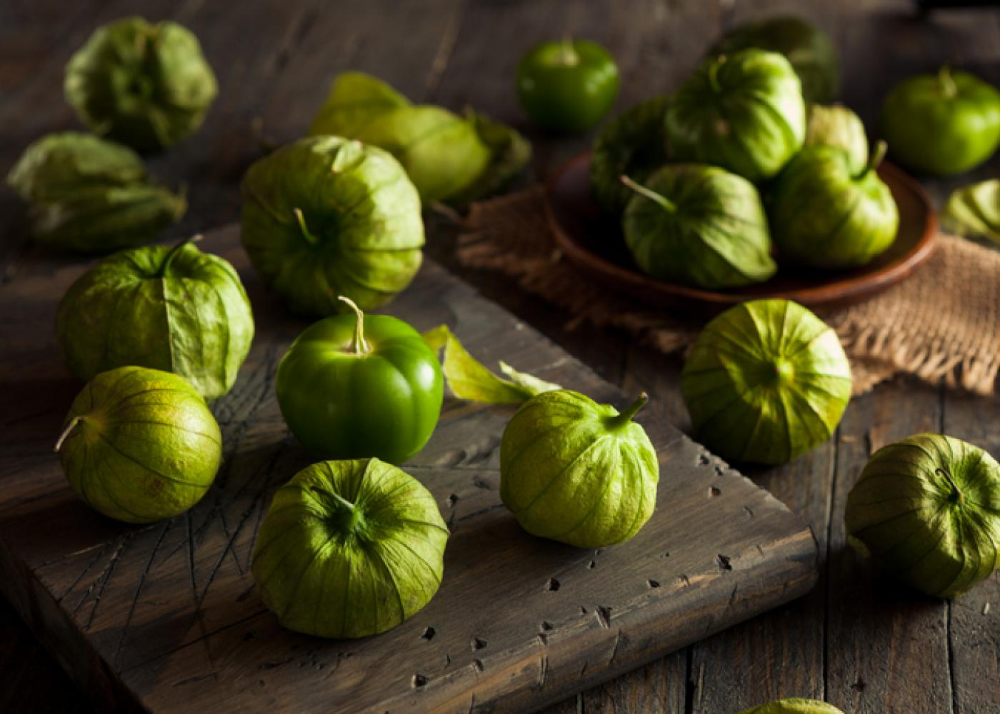 tomatillos on a table