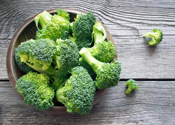 broccoli florets in a bowl