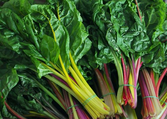 bunches of swiss chard
