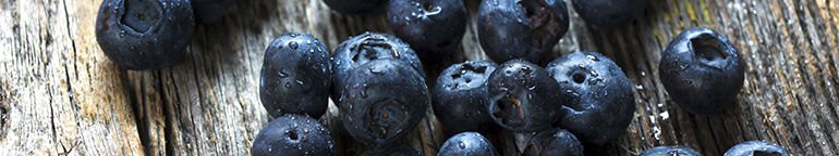 blueberries with water droplets