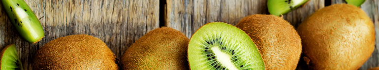 sliced kiwifruits