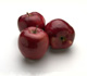 picture of three red delicious apples